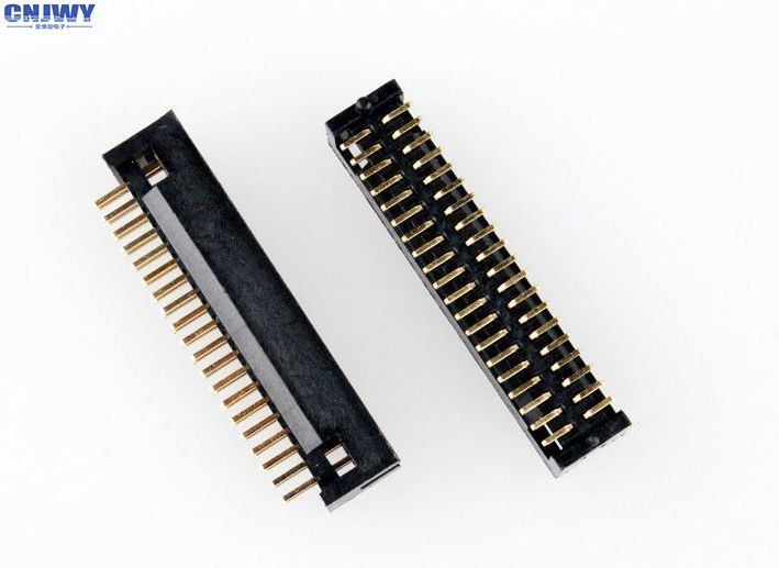 Straight  Board To Wire Box Header Connector 1.27mm Pitch 34 Pin Gold Flash